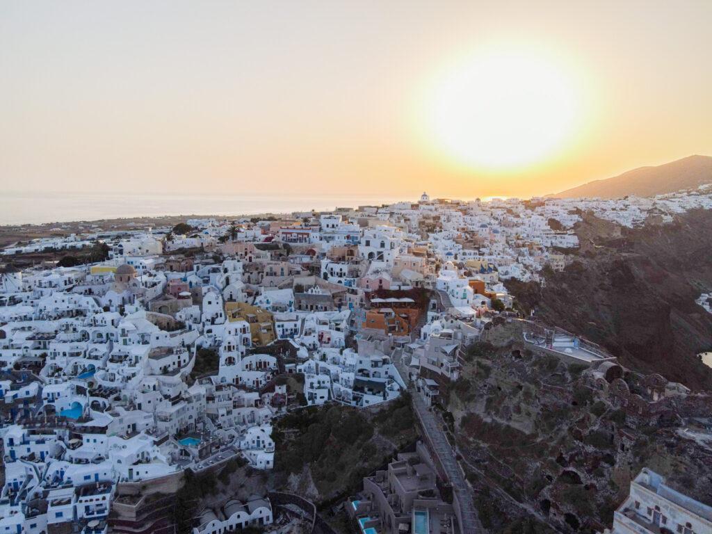 Sonnenaufgang in Oia, Santorini